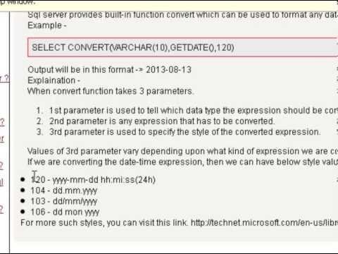 How to convert the date in yyyy mm dd format in sql server