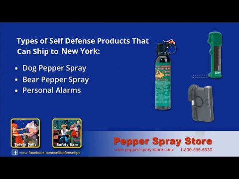 New York State Pepper Spray Laws - What's Legal?