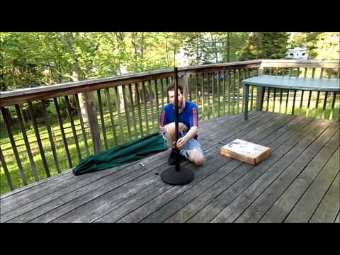 UNBOXING A PATIO UMBRELLA WITH STAND