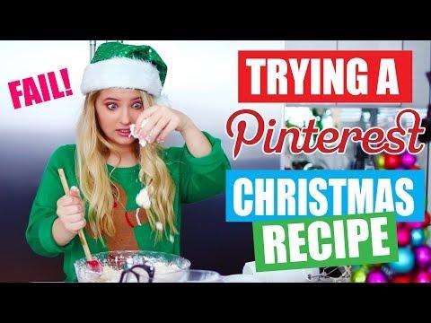 Testing a Christmas Pinterest Recipe!