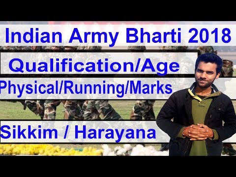 Apply Online Indian Army Bharti 2018  at Sikkim & Harayana Hindi Army Open Bharti 2018