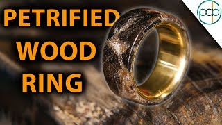 Prehistoric Stone Jewelry - Making a petrified wood ring with Waterjet channel