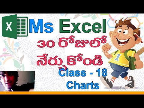 Ms Excel in Telugu | Telugu Ms Excel Classes | Class - 18 |📊| Excel Charts