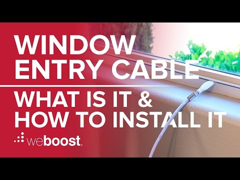 Window Entry Cables: What are they and how do you install them?   weBoost