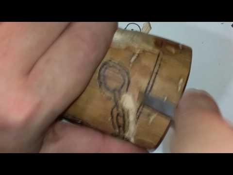 its a trap ferro rod handle wood carving  part 1