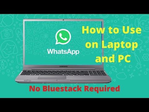 How to use whatsapp on PC and laptop?