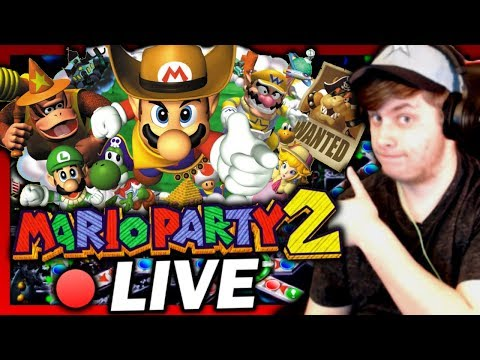 🔴 LIVE / MARIO PARTY 2! ~ Let's Play! #02 w/ Shadikenn! (Space Land!)