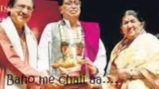 (rare) Baho me chali aao sung by ghulam Ali sahab demanded by Lata ji in a live program