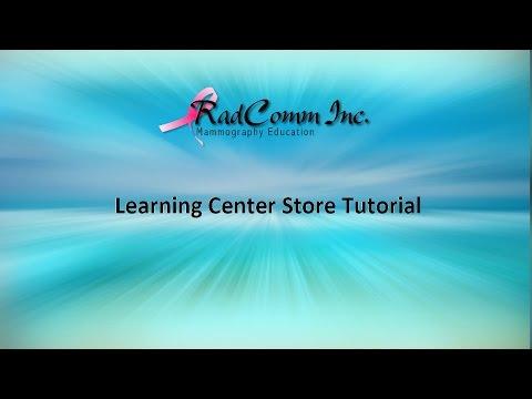 RadComm Learning Center Store Tutorial