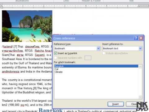 Lesson 51 Cross Reference Microsoft Office Word 2007 2010 Free Tutorial Urdu Hindi Video Training t