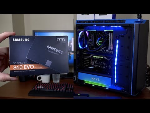 The New Samsung 860 EVO SSD and NZXT Hue+ PC Upgrade!