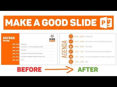 [PowerPoint Tutorial] Design a Good Slide - Episode 7 - The Agenda
