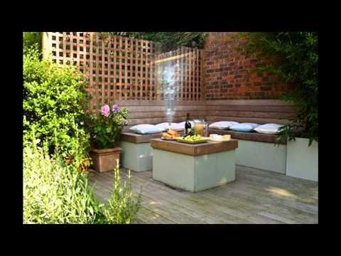Garden screen decorations ideas