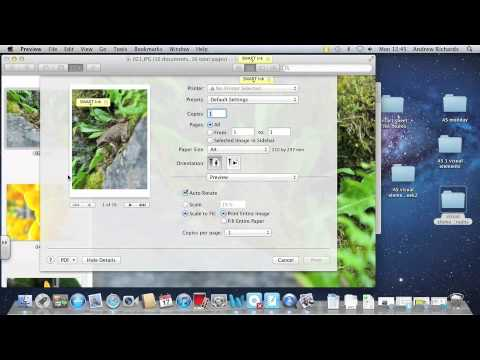 How to make a contact sheet using Preview (Mac)