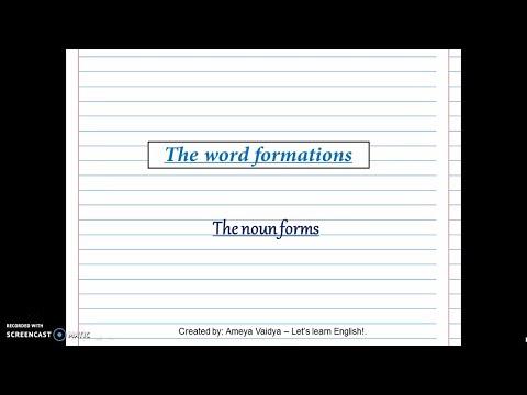 Noun forms
