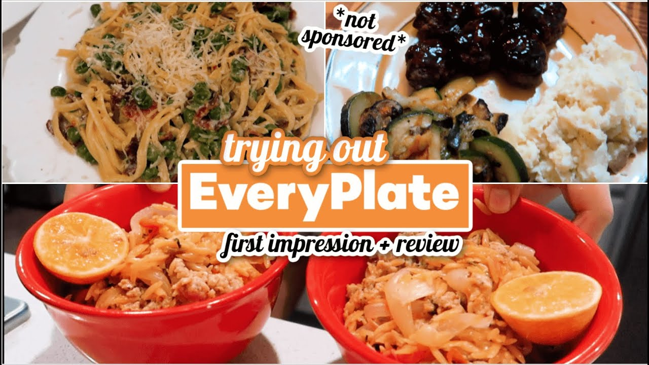 TRYING OUT EVERYPLATE MEALS *not sponsored* || HONEST REVIEW - Is EveryPlate Worth It?!