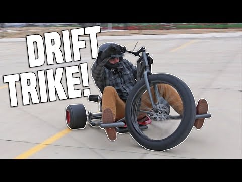First Time on the DRIFT TRIKE!!