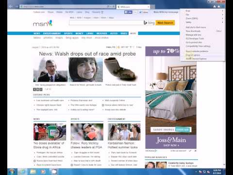 How to change homepage in Internet Explorer 11