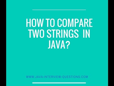 How to compare two Strings in java?