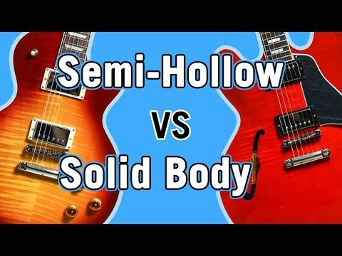 Semi-Hollow vs Solid Body Tone Comparison
