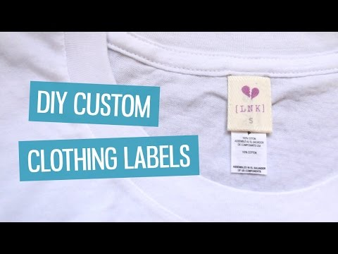 DIY custom clothing labels | CharliMarieTV