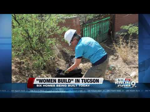 Hundreds of women volunteer to build affordable housing