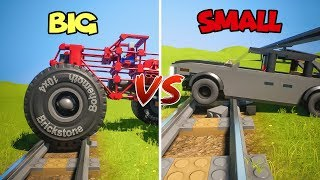 BIG Wheels vs SMALL | Brick Rigs