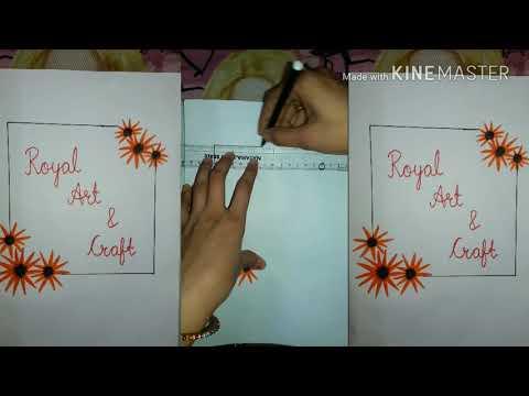 Corner Art Design     Simple Border Design For Project Work    Beautiful Craft Dest