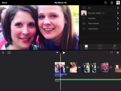 Changing Transitions and Adding Text to iMovie Using iPad