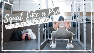 How to Use a Squat Rack + How to Squat   BEGINNER