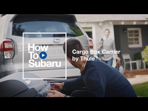 Subaru How-to: Accessory Roof Cargo Carrier by Thule