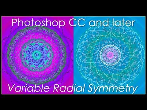 Photoshop CC 2018: Create Beautiful Mandalas & Spirographs using Variable Radial Symmetry.
