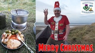 Christmas Dinner Trangia Cooking Backpacking Camping Cooking Bushcraft Tarp Shelter