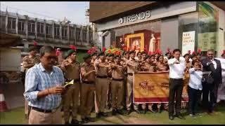 स्वच्छता के लिए एनसीसी और एनएसएस कैडेट्सों ने निकाली रैली