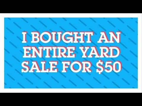 I Bought an Entire Yard Sale for 50 Dollars!! Craigslist Yard Sale Haul Video