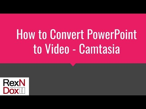 How to Convert PowerPoint to Video - Camtasia