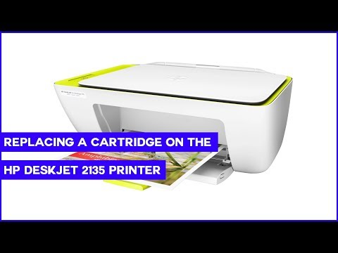 Replacing an ink Cartridge on the HP DeskJet 2135 Printer