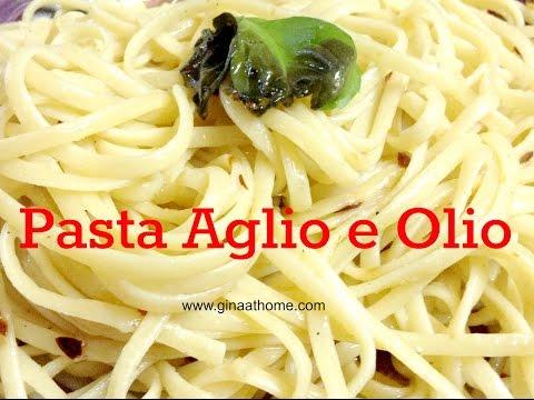 Pasta With Olive Oil Garlic aka Spaghetti Aglio E Olio - Quick & Easy