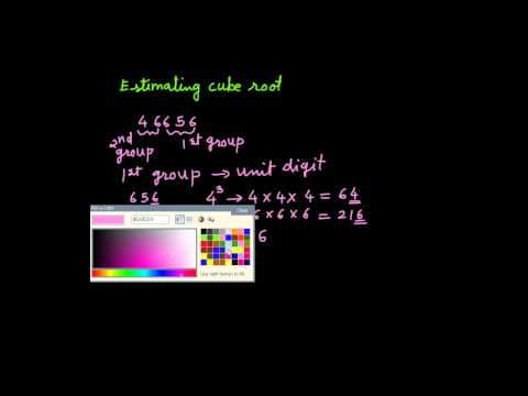 Cube root by estimation method