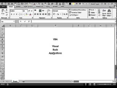 Excel 2013 Video 3 Activate the Developper Tab