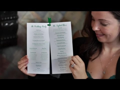 How to Design Wedding Programs : DIY Wedding Invitations
