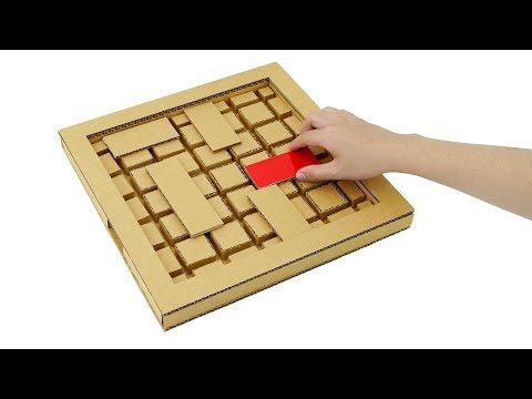 How to Make Amazing UNBLOCK Me Puzzle Game from Cardboard