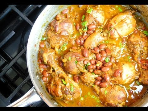 Caribbean Stewed Chicken With Red Beans Recipe.