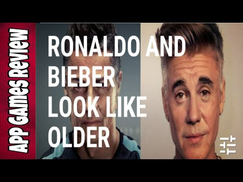 How to Make Ronaldo and Bieber Look Like Older with Faceapp by App Games Review