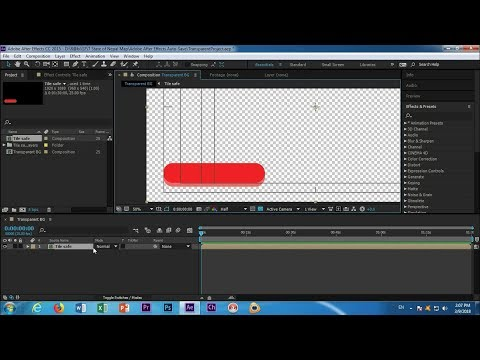 How To Export Transparent Background Video In Adobe  After Effects CC 2017 Tutorial