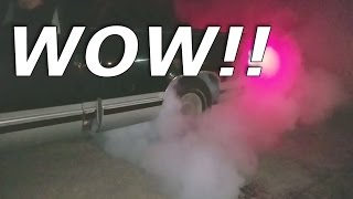 Giant Chevy truck burnout after watching Fast and Furious 8! RIP MY DRIVEWAY