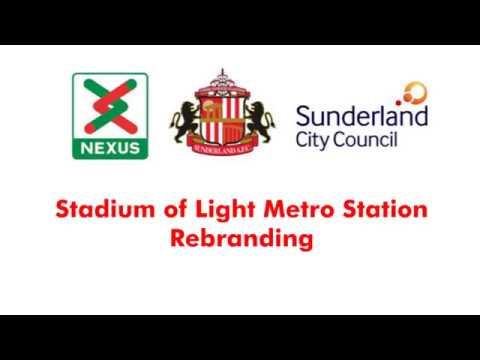 Stadium of Light Metro Station Rebranding