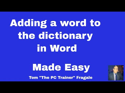 Adding a Word to the Dictionary in Word How to add a word to the dictionary in Word 2010, 2013, 2016