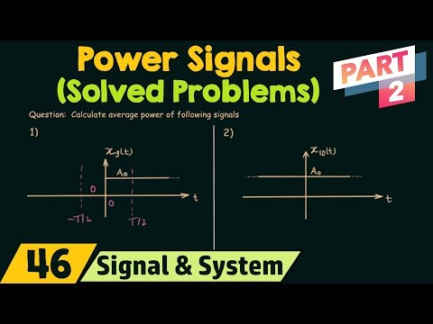 Power of CT Signals (Solved Problems) | Part 2