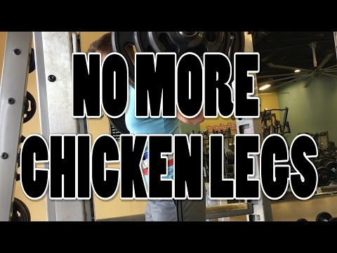 HOW TO GET RID OF CHICKEN LEGS | Big Leg Routine